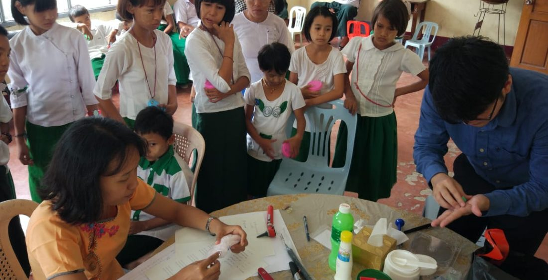 ENT Doctors Way Lyhan Phyo and May Htoo Thaw work in the Mandalay School for the Deaf – August 2018