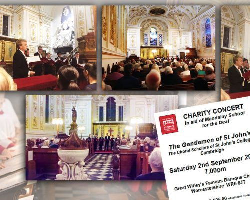 Fundraising Concert by The Gentlemen of St John's College Cambridge